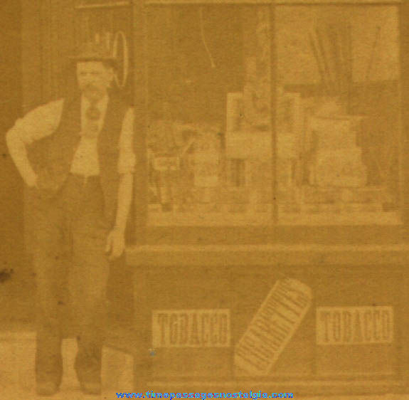 Old Tobacco & Cigarette Store Window Display Photograph