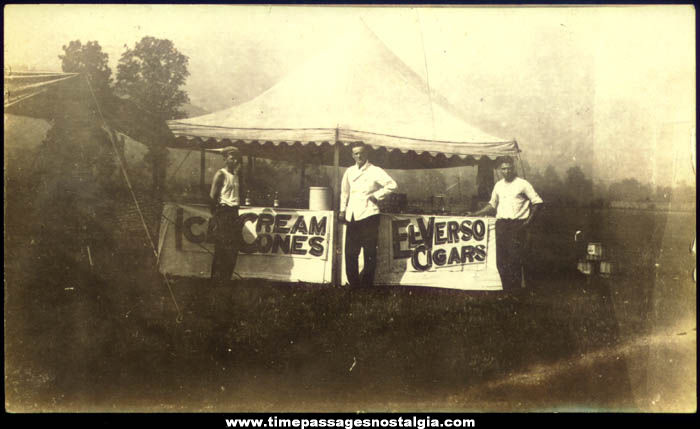 Old El Verso Cigar & Ice Cream Cone Vendor Tent Photograph
