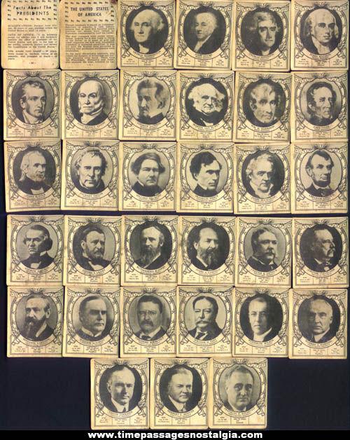 1940 United States President Card Set