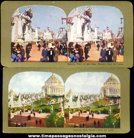 (5) 1904 St. Louis Louisiana Purchase Exposition Stereoview Photograph Cards