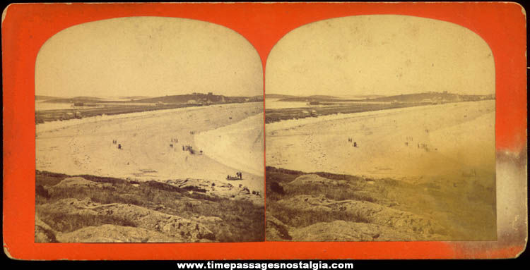 Old Nantasket Beach Massachusetts Stereoview Photograph Card