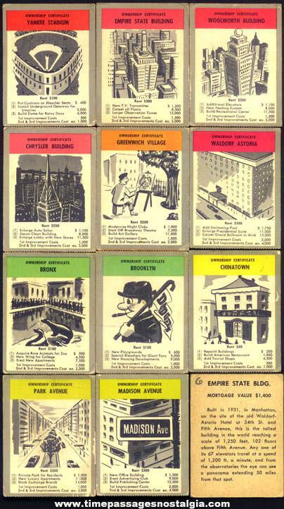 (11) Old New York City Building & Landmark Cards