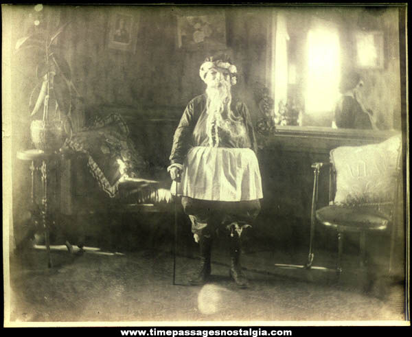 Old Victorian Era Christmas Santa Claus Costume Photograph