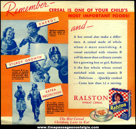 Colorful Old Tom Mix Ralston Cereal & RyKrisp Crackers Advertising Pamphlet Brochure