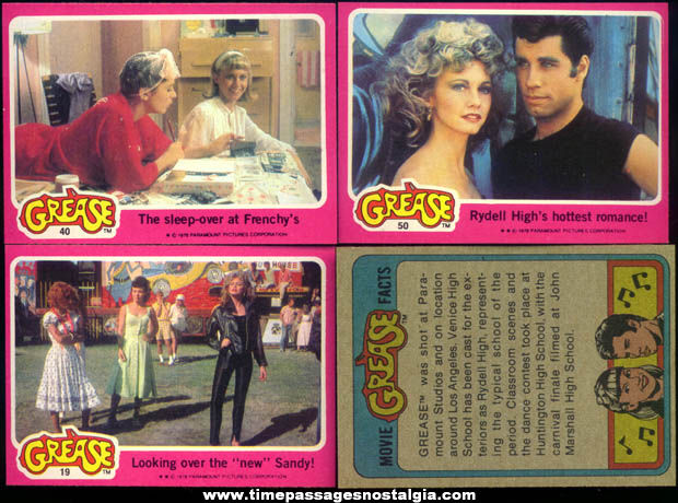 (42) ©1978 Grease Bubble Gum Trading Cards