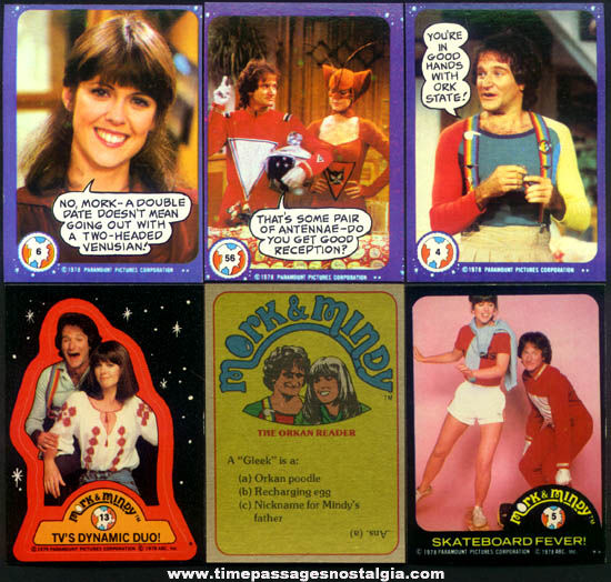 (99) ©1978 Mork & Mindy Bubble Gum Trading Cards
