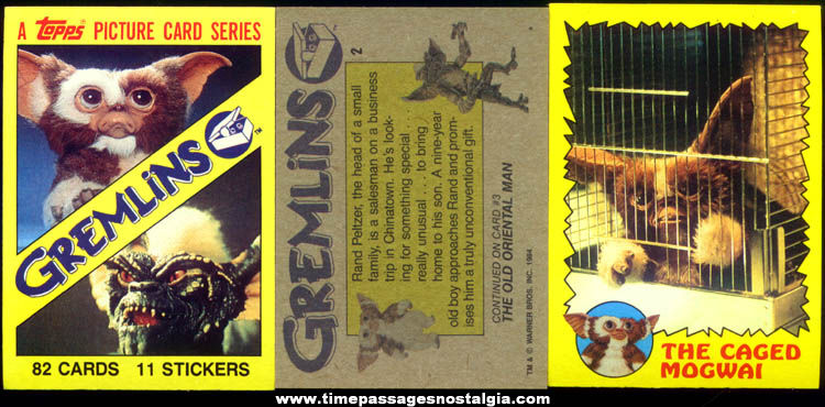 (81) ©1984 Gremlins Topps Bubble Gum Trading Cards