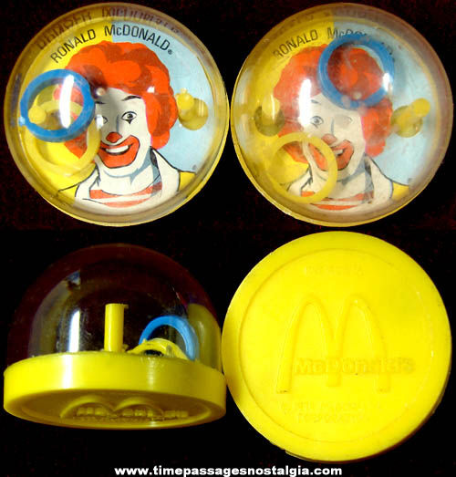 (2) �1979 McDonald's Advertising Ronald McDonald Toy Dexterity Puzzles