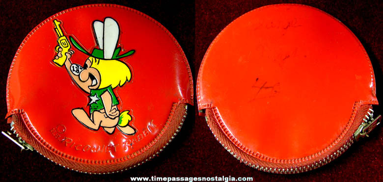 Colorful Old Ricochet Rabbit Cartoon Character Vinyl Change Purse