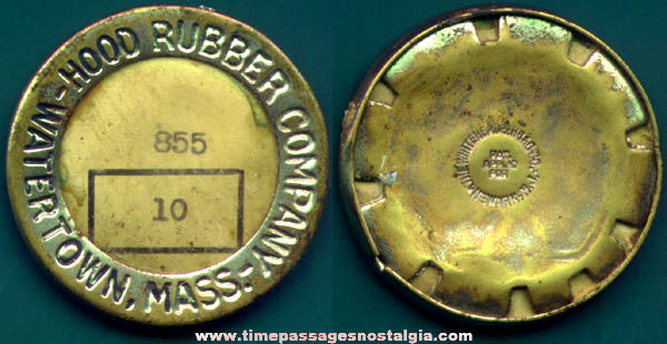 Old Hood Rubber Company Employee Badge