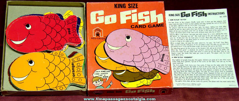 Boxed 1974 edu cards king size go fish card game tpnc for Fish card game