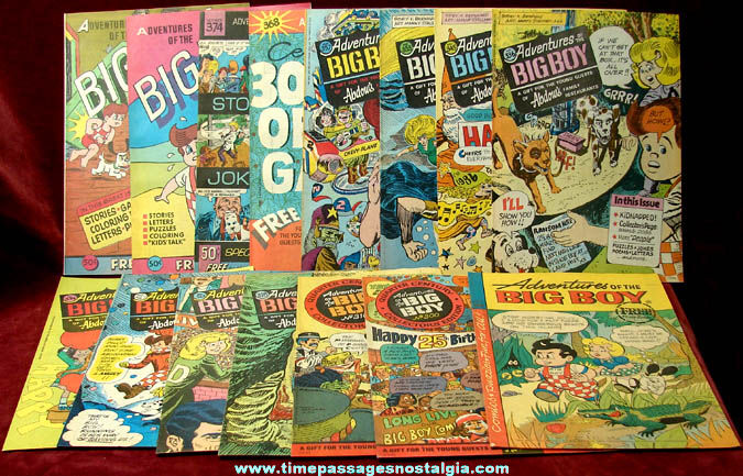 (15) Old Unused Big Boy Restaurant Advertising Premium Comic & Activity Books