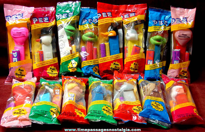 (15) Unopened Bagged PEZ Candy Dispensers With Candy