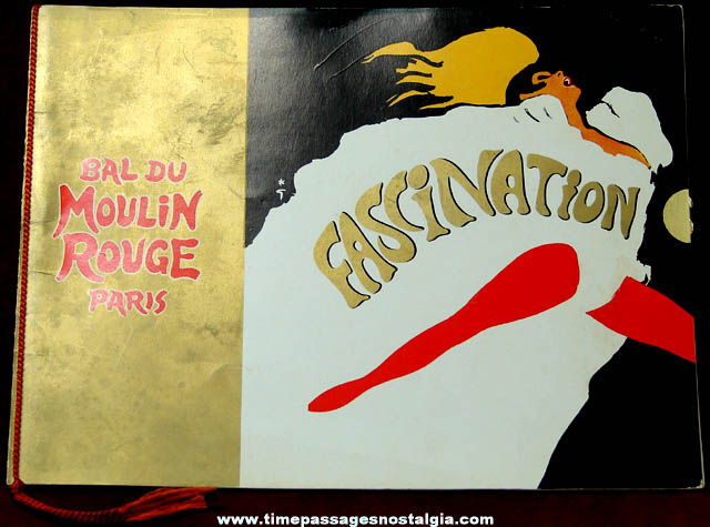 1968 Bal Du Moulin Rouge Paris France Advertising Souvenir Picture Booklet