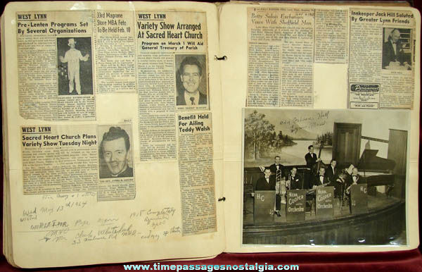 Old Herb Cooper & Orchestra Lynn Massachusetts Music Scrap Book