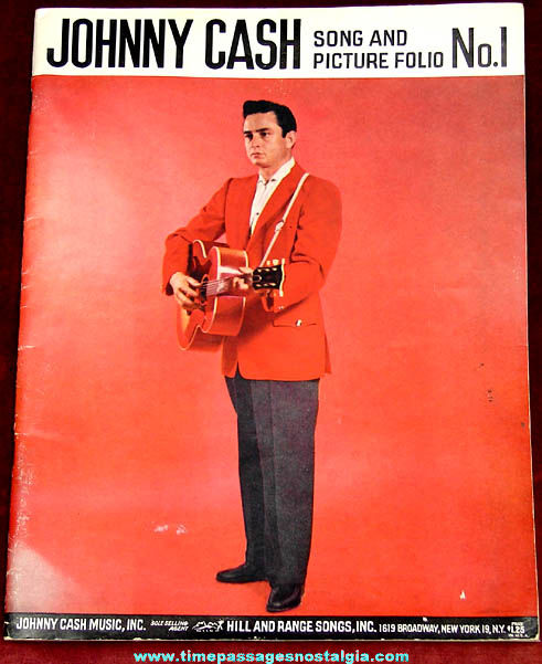 ©1959 Johnny Cash Song & Picture Folio Book No.1