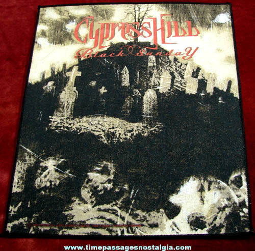 Large Unused ©1993 Cypress Hill Black Sunday Advertising Jacket Patch