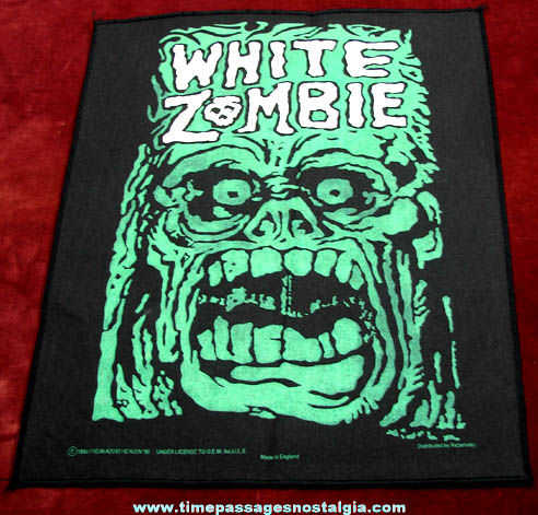 Large Unused �1995 White Zombie Advertising Jacket Patch