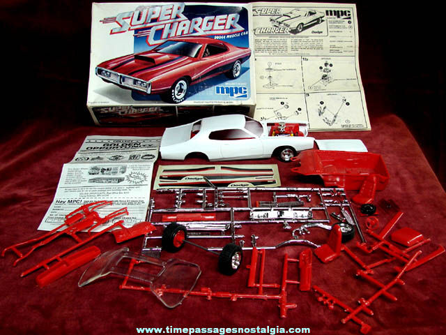 Boxed Mpc Super Charger Dodge Muscle Car Model Kit Tpnc