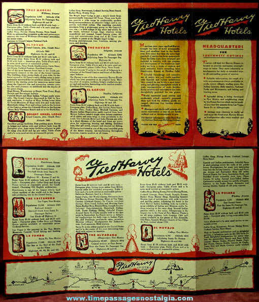 (4) Old Western Route 66 Related Paper Items