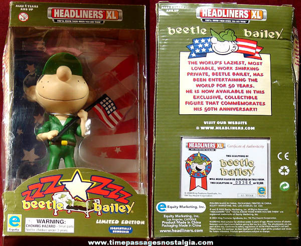 Boxed 50th Anniversary Limited Edition Beetle Bailey U.S. Army Soldier Figure