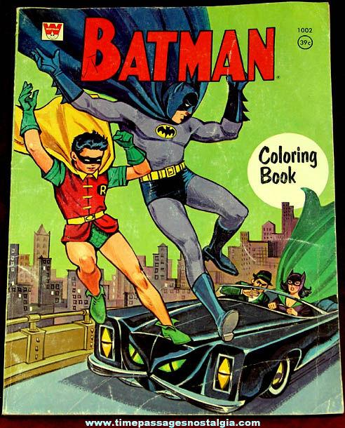1967 Batman & Robin Whitman Coloring Book - TPNC