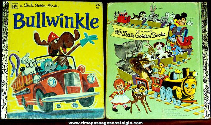1975 Bullwinkle Moose Little Golden Book