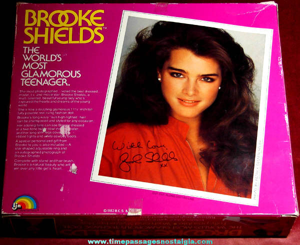 Unused & Boxed �1982 Brooke Shields Doll With Accessories