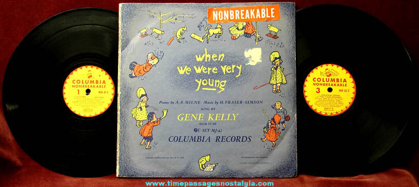 ©1948 When We Were Very Young Gene Kelly Record Set With Cover