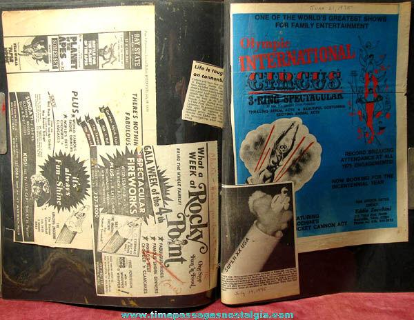 Old Zacchini Italian American Circus Performer Family Scrap Book