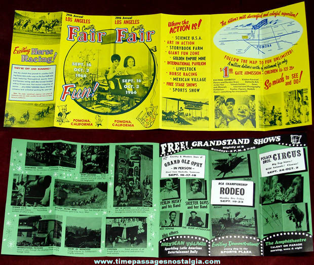 1966 39th Annual Los Angeles County Fair Advertising Brochure