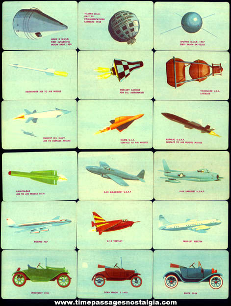 (30) 1960s Boxed Fairchild Transportation Hobby Trading Cards