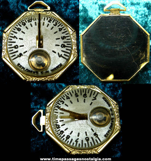 1948 Jack Armstrong Cereal & Radio Premium Glow In The Dark Sun Dial Watch With Compass