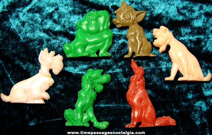 (6) 1955 Walt Disney Lady & The Tramp Advertising Premium Character Figures