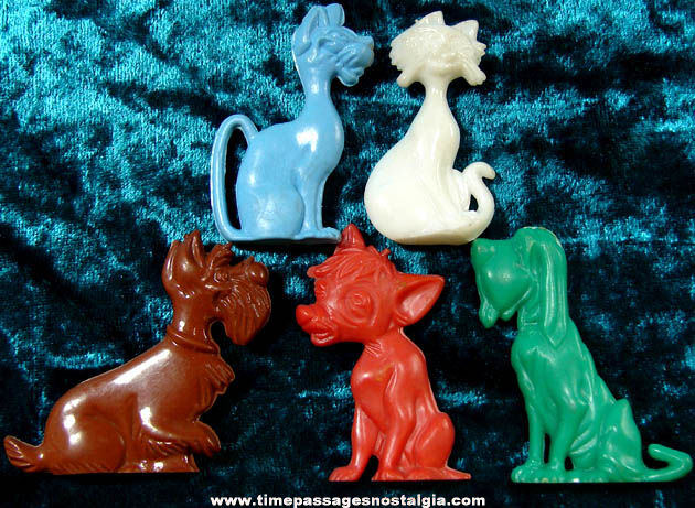 (5) 1955 Walt Disney Lady & The Tramp Advertising Premium Character Figures