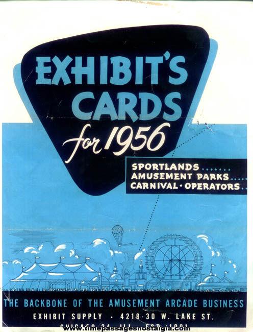 1956 Exhibit Supply Company Exhibit Arcade Cards Advertising Flyer