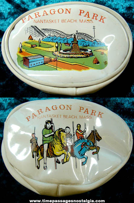 Old Paragon Park Nantasket Beach Massachusetts Advertising Souvenir Vinyl Change Purse