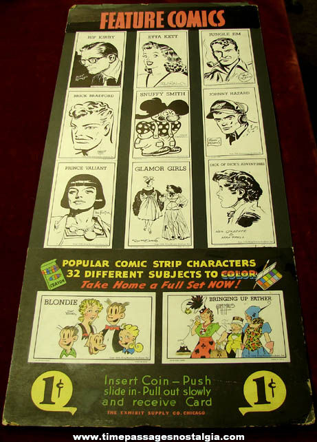(16) ©1949 Comic Strip & Cartoon Character Exhibit Supply Arcade Cards