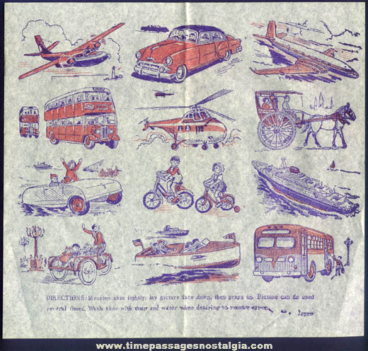 Old Unused Transportation Vehicle Tattoo Sheet