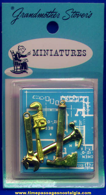 Unopened 1960s Grandmother Stovers Tool Kit Toy Charms