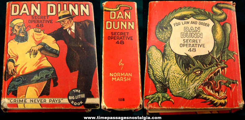 ©1934 Dan Dunn Secret Operative 48  Crime Never Pays Big Little Book