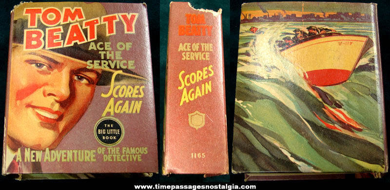 ©1937 Tom Beatty Ace of The Service Scores Again Big Little Book
