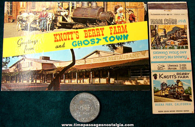(3) Old Knott's Berry Farm Souvenir Advertising Items