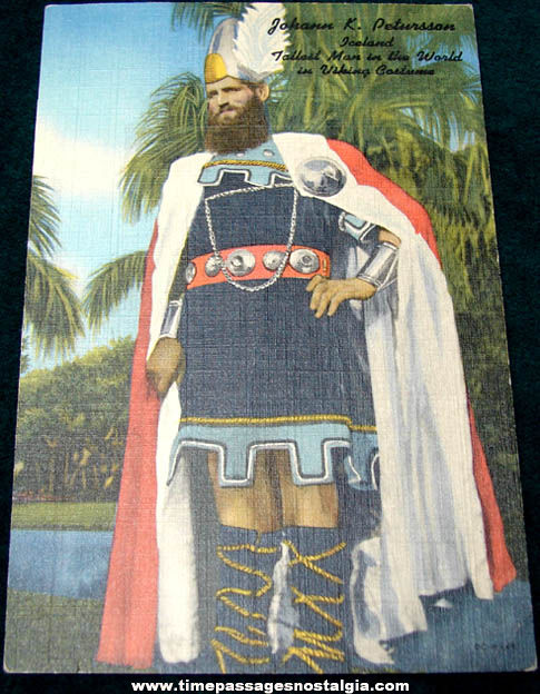 Old Unused Giant in Viking Costume Souvenir Post Card