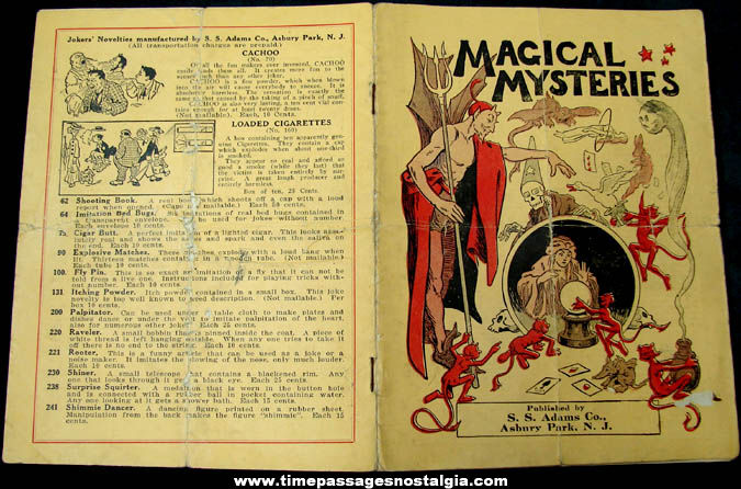 Early S. S. Adams Company Magic, Trick, & Novelty Catalog