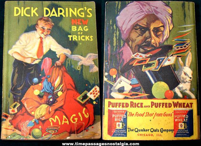 ©1934 Quaker Puffed Rice & Puffed Wheat Cereal Premium Magic Book