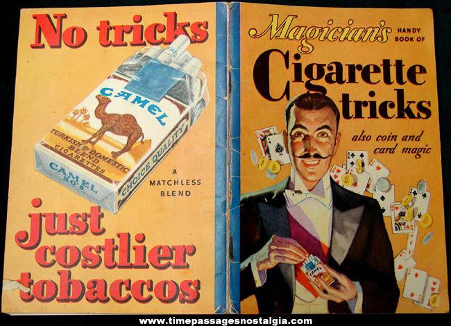 ©1933 Cigarette Advertising Premium Magician's Cigarette Tricks Book