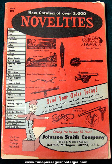 Old Johnson Smith Company Novelty Advertising Catalog