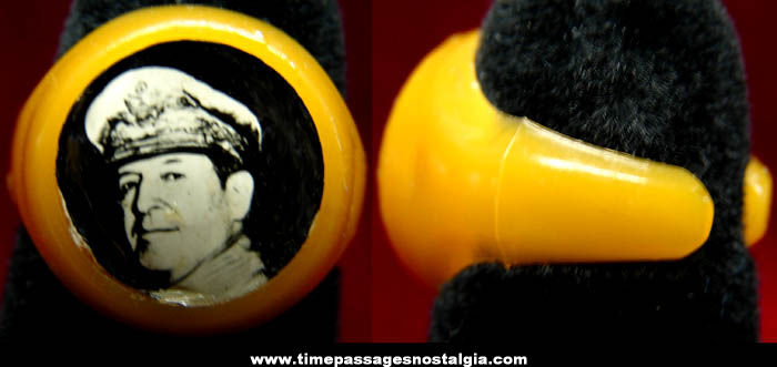 Old General Douglas MacArthur Real Photo Toy Ring