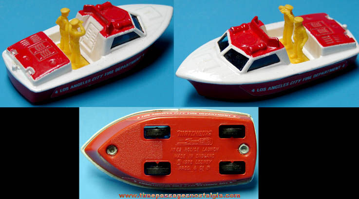 ©1976 Matchbox Superfast Police Launch Los Angeles Fire Boat